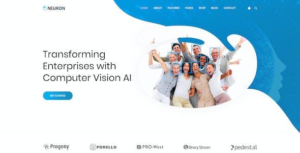 Neuron - Machine Learning & AI Startups PSD Template