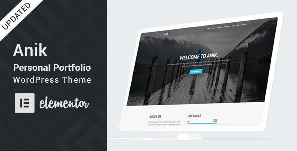 Anik - Personal Portfolio WordPress Theme - Portfolio Creative