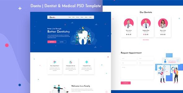 Donto I Dentist PSD Template - PSD Templates