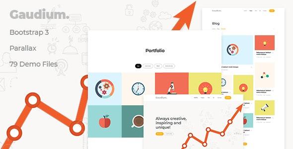 Gaudium - Bootstrap 3 Multi-Purpose Template - Creative Site Templates