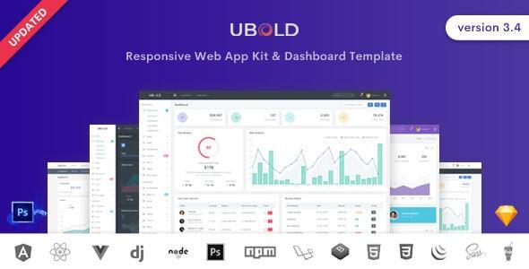 Ubold Admin & Dashboard Template