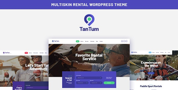 TanTum | Car, Scooter, Boat & Bike Rental Services WordPress Theme - Travel Retail