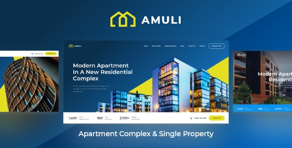 Amuli | Single & Multiple Property Real Estate WordPress Theme - Real Estate WordPress