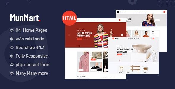 Munmart - Minimal eCommerce HTML Premium Template - Shopping Retail