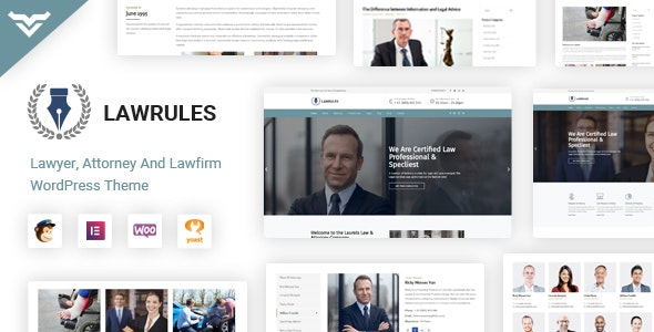 Lawrules | Lawyer WordPress Theme - Business Corporate