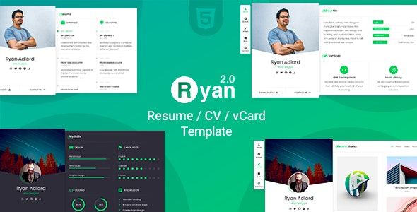 Resume/CV/vCard | Ryan - Virtual Business Card Personal