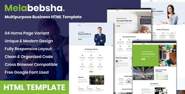 Melabebsha - Multipurpose Business HTML Template - Business Corporate