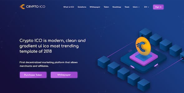 Crypto ICO - Cryptocurrency Website Landing Page HTML Template