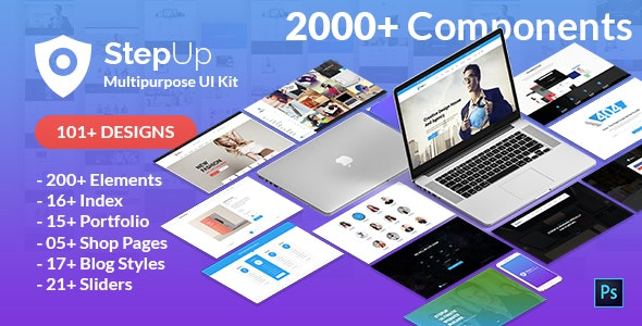 StepUp Multipurpose All in One PSD Template - Business Corporate