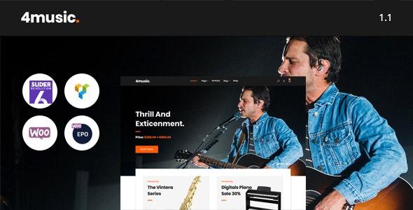 Fourmusic - Musical instruments Shop WooCommerce Theme - WooCommerce eCommerce