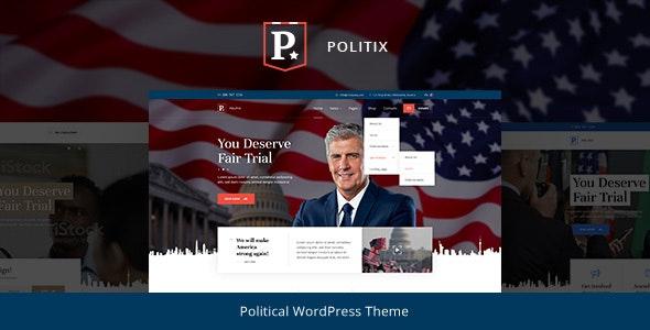 Politix - Political Campaign WordPress Theme - Political Nonprofit