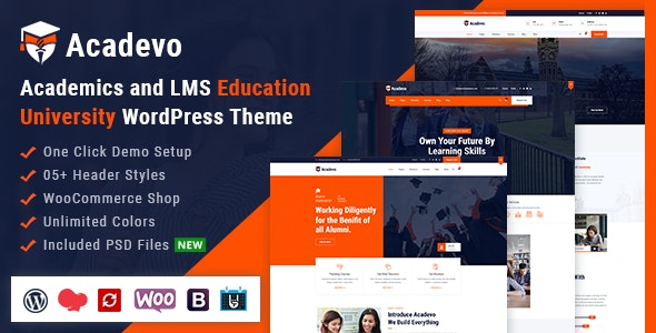 Acadevo - Academics and Education LMS WordPress Theme - Education WordPress