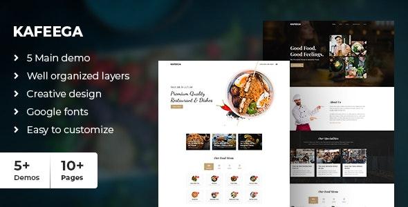 Kafeega - Clean & Modern PSD template for Restaurants & Food Business - Food Retail