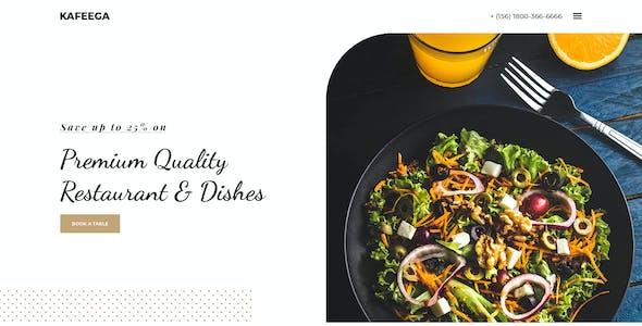 Kafeega - Clean & Modern PSD template for Restaurants & Food Business