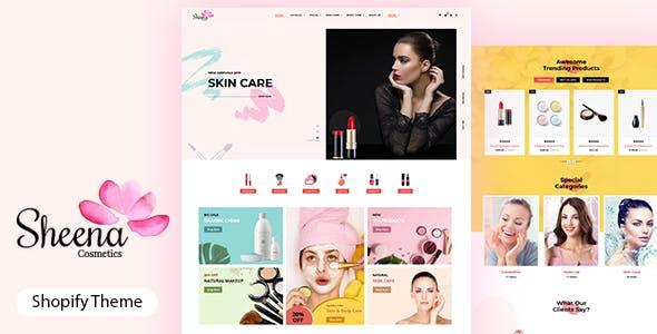 Sheena - Beauty Cosmetic Shopify Theme
