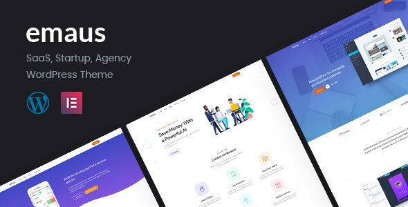 Emaus | SaaS App and Startup WordPress Theme - Software Technology