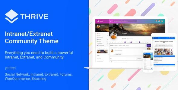 Thrive - Intranet/Extranet/Community WordPress Theme - BuddyPress WordPress