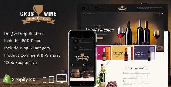 Cruswine - Sectioned Shopify Theme - Shopify eCommerce