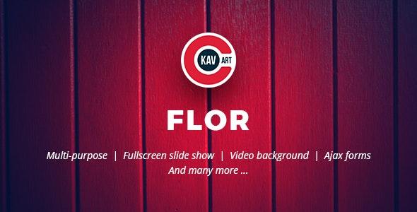 Flor - HTML Responsive Template - Creative Site Templates
