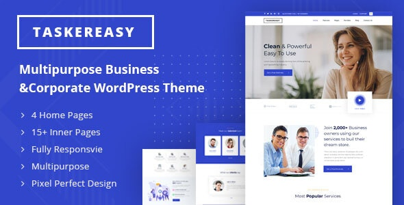 Taskereasy - Multipurpose Business & Corporate WordPress Theme - Corporate WordPress