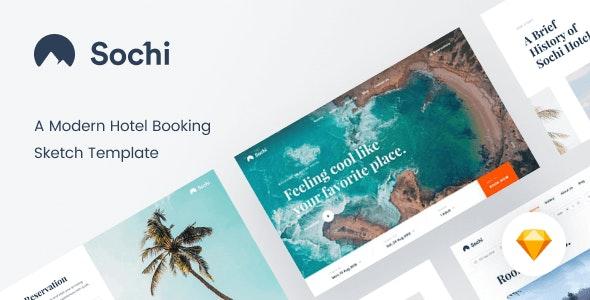 Sochi – Hotel Booking Sketch Template - Sketch Templates