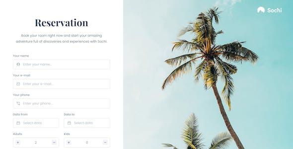 Sochi – Hotel Booking Sketch Template