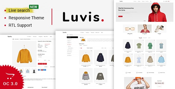 Luvis - Opencart 3 The Best Fashion Store - Fashion OpenCart