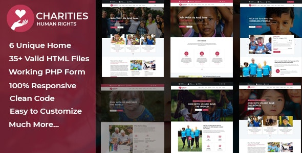 Charities - Charity & Nonprofit Template - Charity Nonprofit