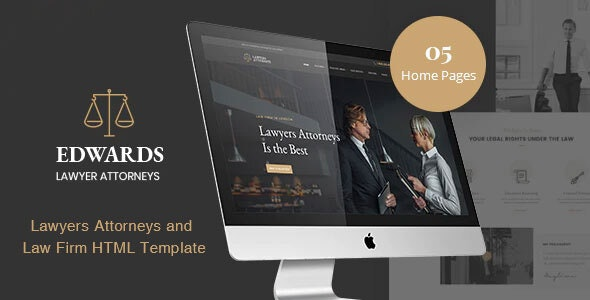 Edwards - Law Firm HTML Template - Business Corporate