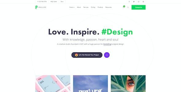 Prelude - Creative Multipurpose PSD Template