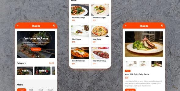 Aaem - Cafe & Restaurant Mobile Template - Mobile Site Templates