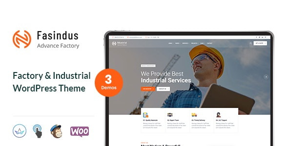 Fasindus - Factory & Industrial WordPress Theme - Business Corporate