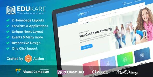 Edukare - Education WordPress Theme for University, School and Academics