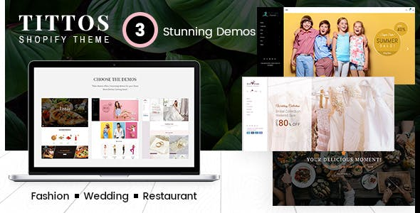 Tittos | Food Fashion, Wedding Shopify Theme