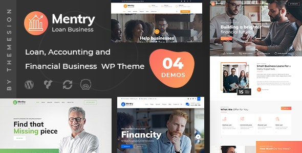 Mentry - Loan and Financial WordPress Theme - Business Corporate