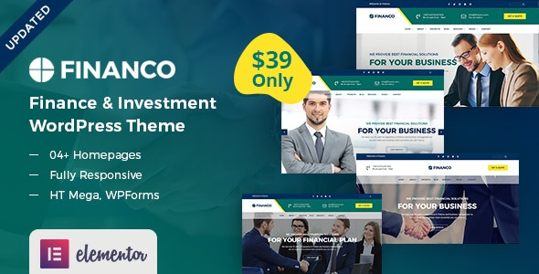 Financo - Finance & Investment WordPress Theme - Business Corporate