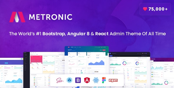 Metronic - Bootstrap 4, Angular 8, React Admin Dashboard Theme - Admin Templates Site Templates