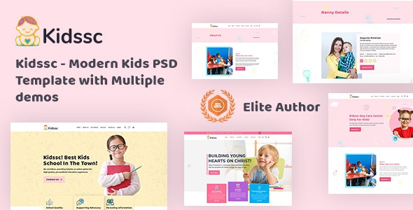 Kidssc - Modern Kids PSD Template - Children Retail