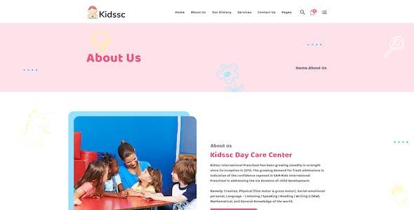 Kidssc - Modern Kids PSD Template