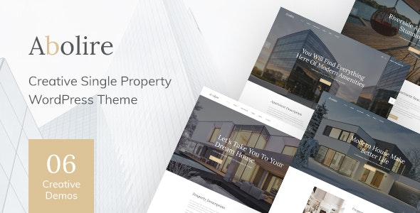 Abolire - Single Property WordPress Theme - Real Estate WordPress