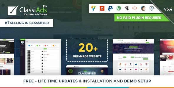 Classiads - Classified Ads WordPress Theme - Directory & Listings Corporate