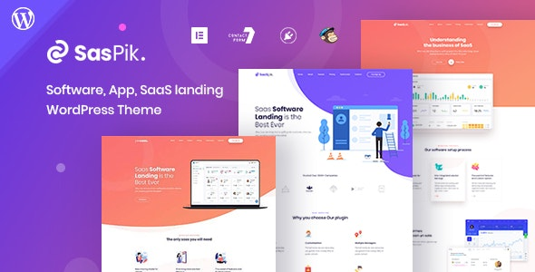 SasPik | Landing WordPress theme - Technology WordPress