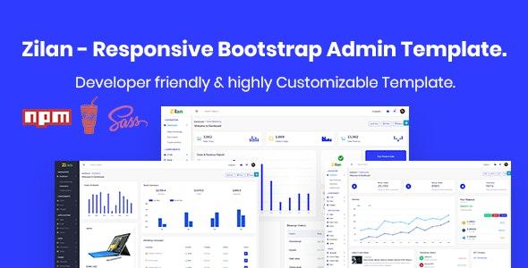 Zilan - Bootstrap Admin & Dashboard Template - Admin Templates Site Templates
