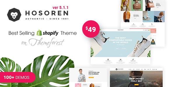 Hosoren - Responsive Shopify Theme (Sections Ready)