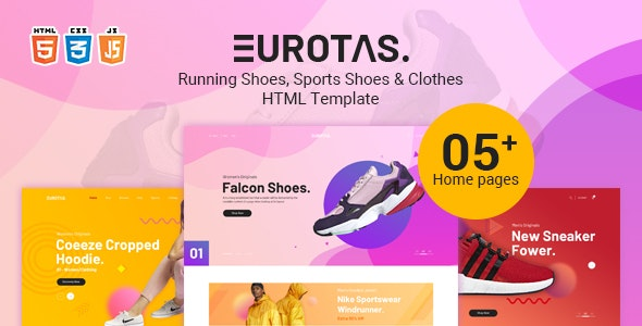 Eurotas – Running Shoes, Sports Shoes & Clothes HTML5 Template - Retail Site Templates