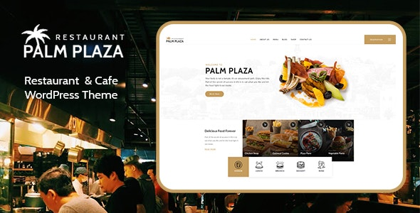 Palmplaza - Restaurant & Cafe WordPress Theme - Restaurants & Cafes Entertainment