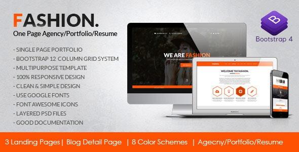 Fashion Agency Personal Resume Portfolio Html5 Template By Kiswa Solutions