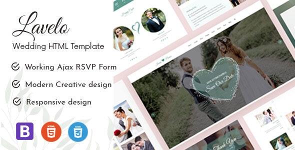 Lavelo - Wedding HTML5 Template - Wedding Site Templates