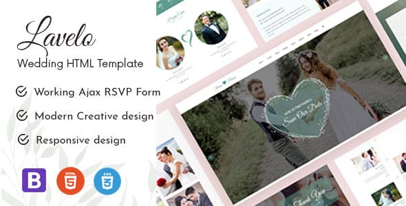 Download Lavelo - Wedding HTML5 Template