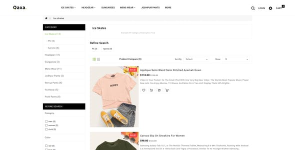 Qaxa - Responsive Fashion OpenCart 3 Theme